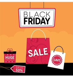 Black friday retail design vector