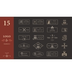 Set of logos and badges video vector