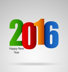 New Year card with colored numbers template vector image