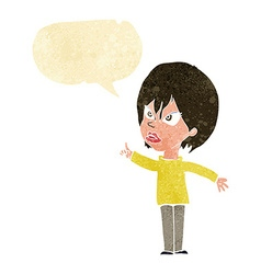Cartoon woman arguing with speech bubble vector