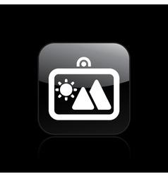 travel photo icon vector image