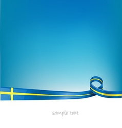 Sweden flag on sky background vector