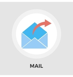 Mailing line icon vector