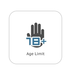 Age limit icon flat design vector