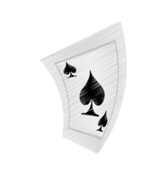 aces spades poker playing card drawing vector image