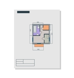 Apartments Plan in Flat Style vector image vector image
