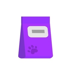 bag of food for pets icon vector image vector image