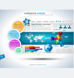 Complex Website Template vector image