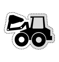 excavator machine isolated icon vector image vector image