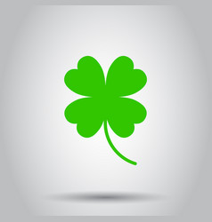 Four leaf clover icon on isolated background vector
