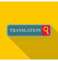 Internet translation icon flat style vector