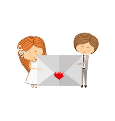 lovely couple cartoon vector image vector image