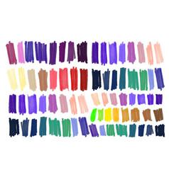 Marker stroke spots bright color vector