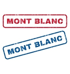Mont blanc rubber stamps vector