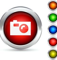 Photo button vector image