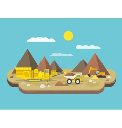 Quarry Flat vector image
