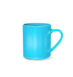 Realistic blue coffee or tea cup isolated on vector