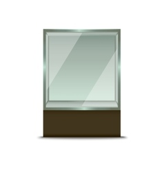 Realistic Glass Shop Window vector image