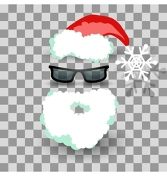 Santa costume on transparent vector image