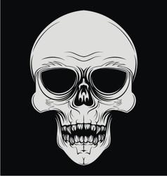 Skulls face vector