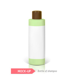 Small bottle of shampoo vector