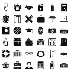 sporting icons set simple style vector image vector image