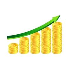 Stack of golden coins vector