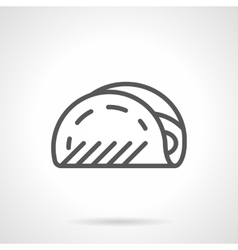 Taco black line icon vector