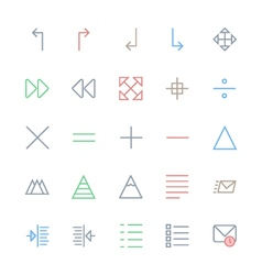 User Interface Colored Line Icons 20 vector image