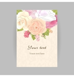 Vertical romantic greeting card vector image vector image