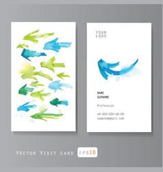 Watercolor arrows visit card vector image vector image