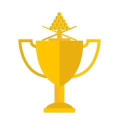 Winning billiards concept of victory vector