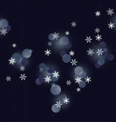 winter background snowflakes illust vector image