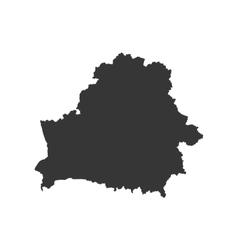 Belarus map silhouette vector