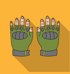 Fingerless gloves icon in outline style isolated vector