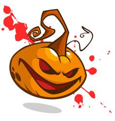 Pumpkin on bloody background vector