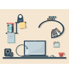 Flat design of business office vector