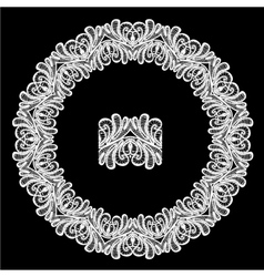lace round 2 380 vector image
