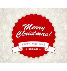 Simple vintage retro Christmas card vector image