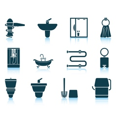 Set of bathroom icon vector