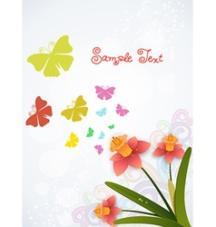 Spring background with floral vector