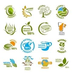 Set of organic-bio labels vector