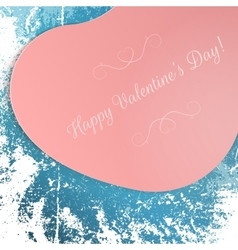 Valentines day big pink festive heart postard vector