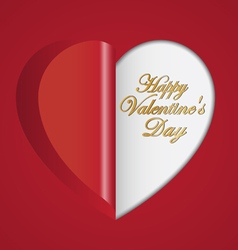 Red paper hearts folding vector