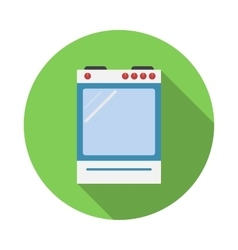 Electric cooker oven flat style vector