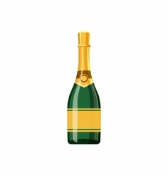 Champagne bottle icon cartoon style vector