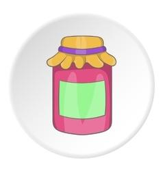 Bank of jam icon cartoon style vector image