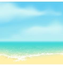 Beautiful tropical beach vector