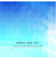 blue abstract backgroundmosaic of geometric vector image