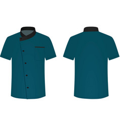 Blue cook uniform vector